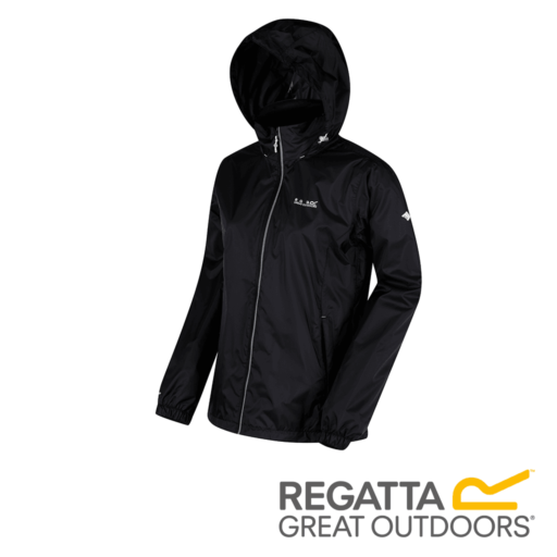Regatta Women's Corinne IV Lightweight Hooded Waterproof Jacket – Black