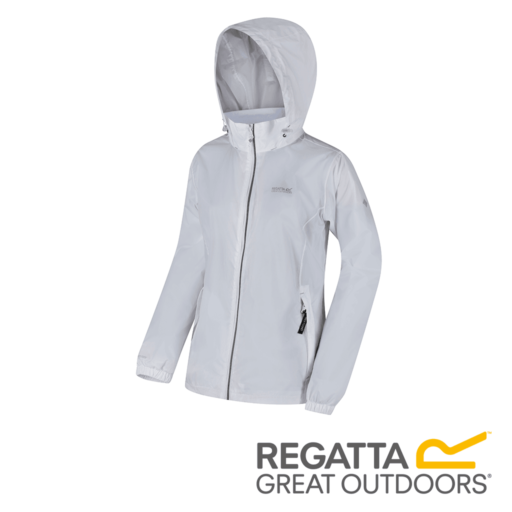 Regatta Women's Corinne IV Lightweight Hooded Waterproof Jacket – White