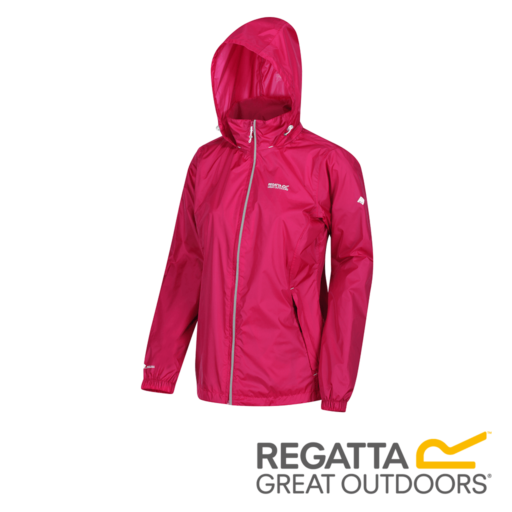 Regatta Women's Corinne IV Lightweight Hooded Waterproof Jacket – Dark Cerise