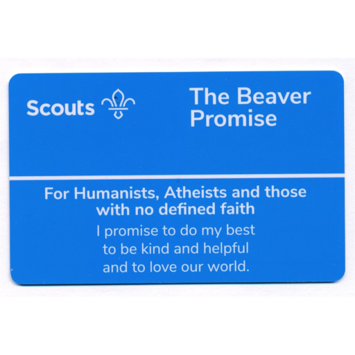 Beavers Promise Card – Humanists and Atheists