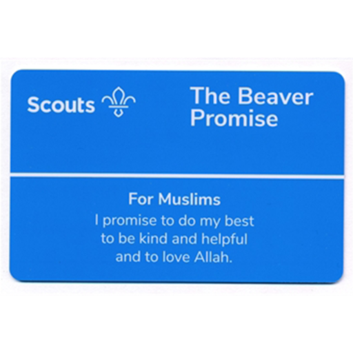 Beavers Promise Card – Muslims
