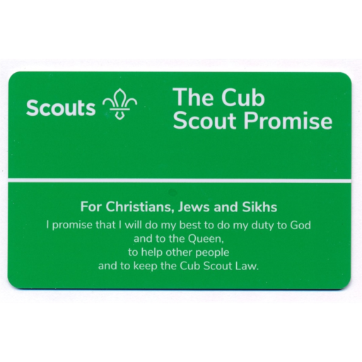 Cubs Promise Card – Christians, Jews and Sikhs