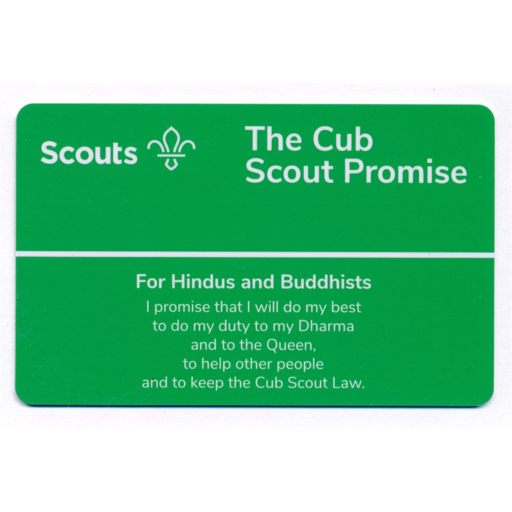 Cubs Promise Card – Hindus and Buddhists