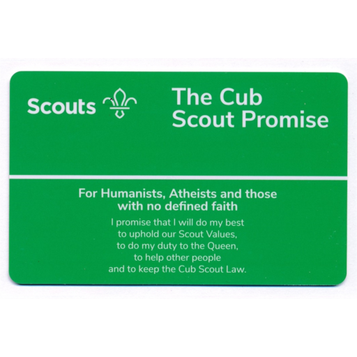 Cubs Promise Card – Humanists and Atheists