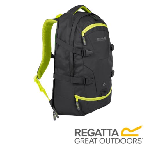 Regatta Paladen 35 L Laptop Backpack – Ebony / Neon