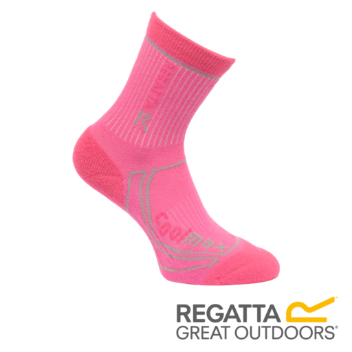 Regatta Kid's 2 Season Coolmax Trek & Trail Socks – Raspberry Rose / Jem