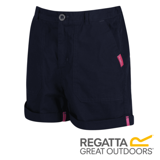 Regatta Kid's Damzel Cool Weave Cotton Shorts – Navy