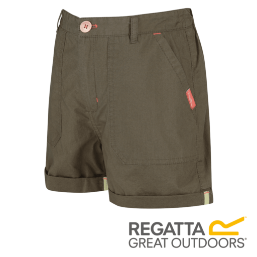 Regatta Kid's Damzel Cool Weave Cotton Shorts – Ivy Green
