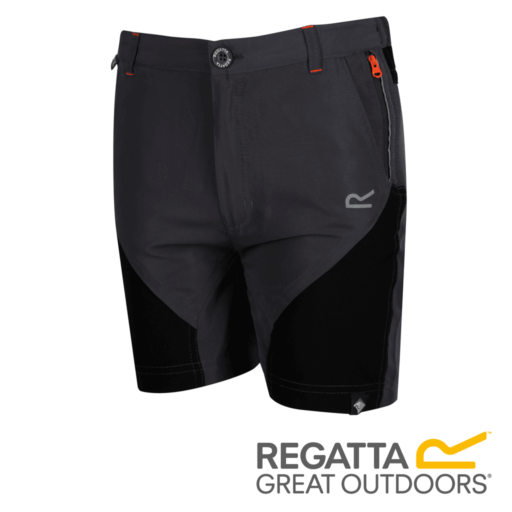 Regatta Kid's Sorcer Mountain Shorts – Seal Grey / Black