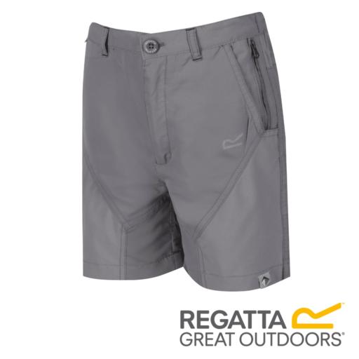 Regatta Kid's Sorcer Mountain Shorts – Rock Grey