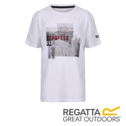Regatta Kid's Bosley II Adventure Graphic Print T-Shirt – White / Navy