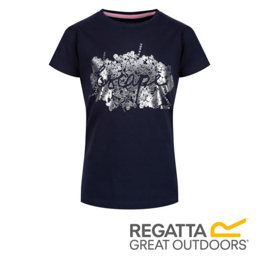 Regatta Kid's Bosley II Adventure Graphic Print T-Shirt – Navy / Cabaret