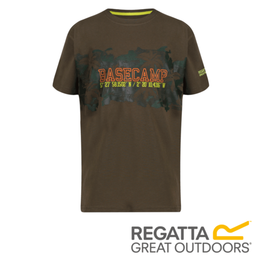 Regatta Kid's Bosley II Adventure Graphic Print T-Shirt – Grape Leaf