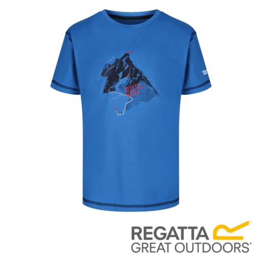 Regatta Kid's Alvardo IV Graphic Print T-Shirt – Oxford Blue