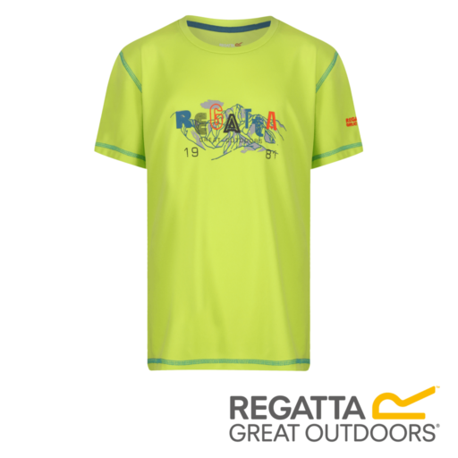 Regatta Kid's Alvardo IV Graphic Print T-Shirt – Lime Punch