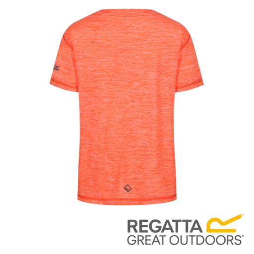 Regatta Kid's Alvardo IV Graphic Print T-Shirt – Blaze Orange