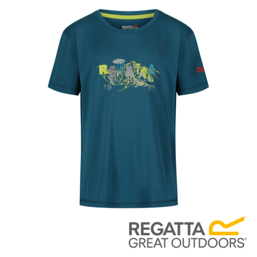 Regatta Kid's Alvardo IV Graphic Print T-Shirt – Sea Blue