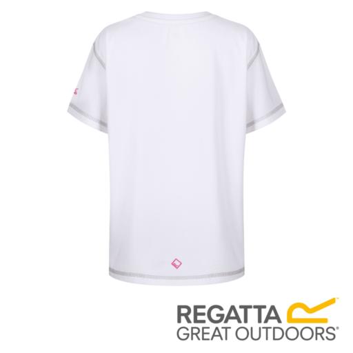 Regatta Kid's Alvardo IV Graphic Print T-Shirt – White