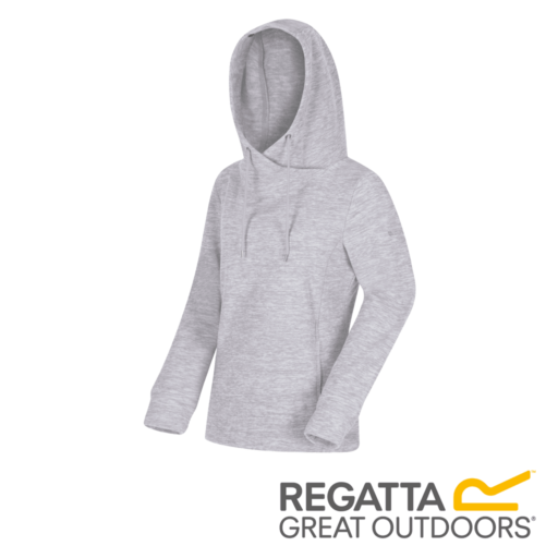 Regatta Women's Kizmit II Marl Fleece Oversized Hood – Light Steel