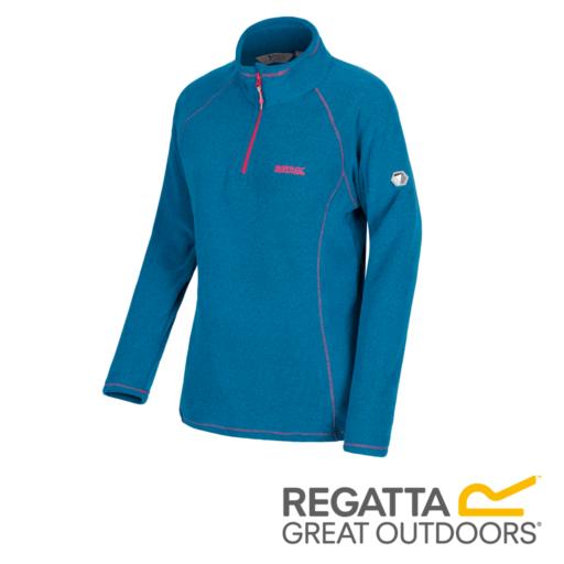 Regatta Women's Kenger Half-Zip Mid Weight Honeycomb Fleece – Blue Reef