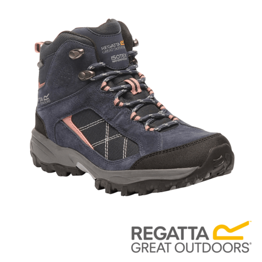 Regatta Women's Clydebank Mid Hiking Boots – Navy / Ash Rose
