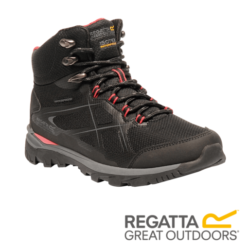 Regatta Women's Kota Mid Walking Boots – Black / Rosebud