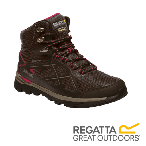Regatta Women's Kota Mid Walking Boots – Peat / Dark Cerise