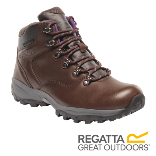 Regatta Women's Bainsford Hiking Boots – Chestnut / Alpine Purple