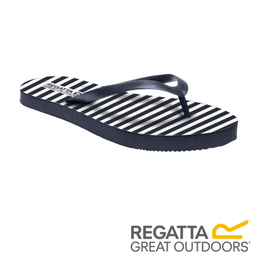 Regatta Women's Bali Flip Flops – Navy / White