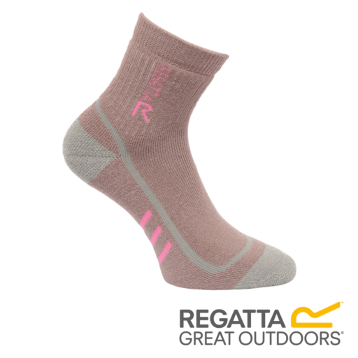 Regatta Women's 3 Season Heavyweight Trek & Trail Socks – Mauve / Raspberry Rose
