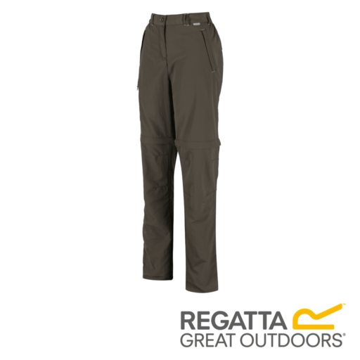 Regatta Women's Chaska Zip Off Hiking Trousers – Long – Tree Top