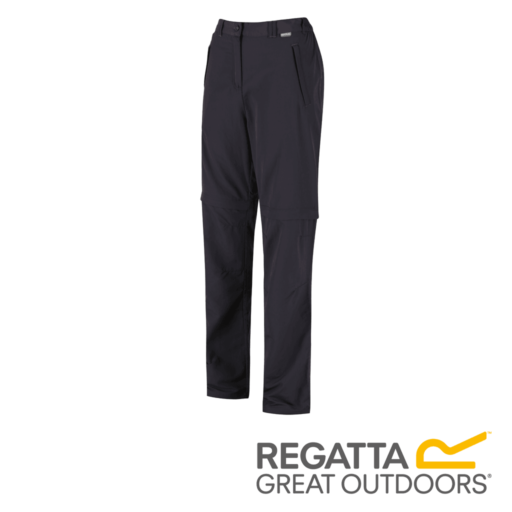 Regatta Women's Chaska Zip Off Hiking Trousers – Regular – Iron