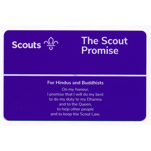 Scouts Promise Card – Hindus and Buddhists