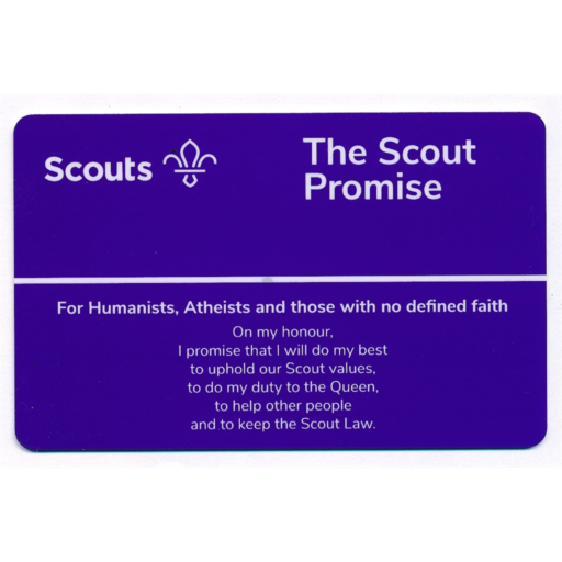 Scouts Promise Card – Humanists and Atheists