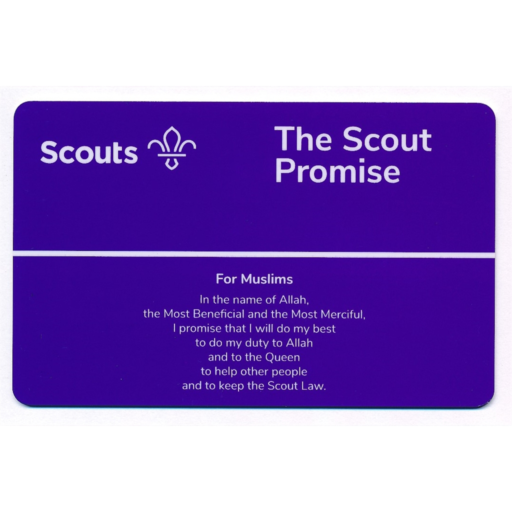 Scouts Promise Card – Muslims