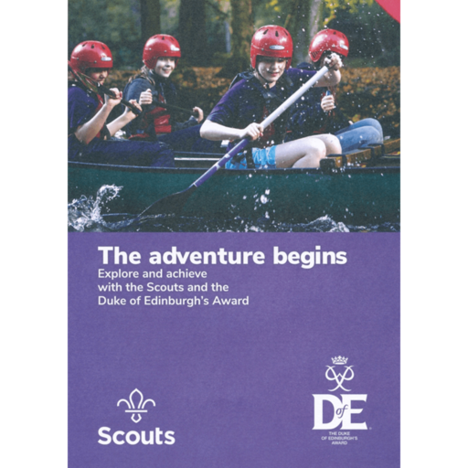 The Adventure Begins – Duke of Edinburgh's Award Leaflet