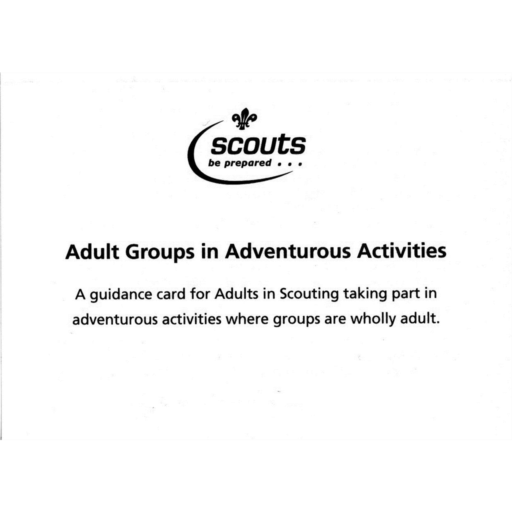 Adult Groups in Adventurous Activities