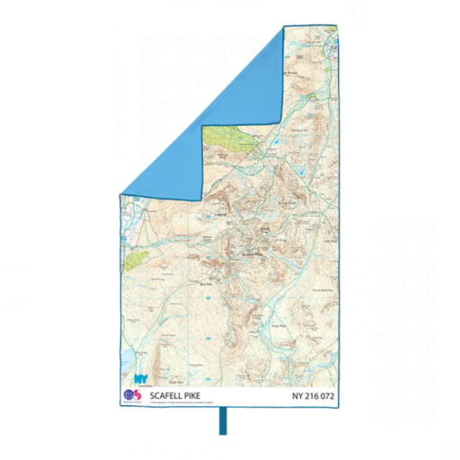 Lifeventure SoftFibre OS Map Towel – Giant – Scafell Pike