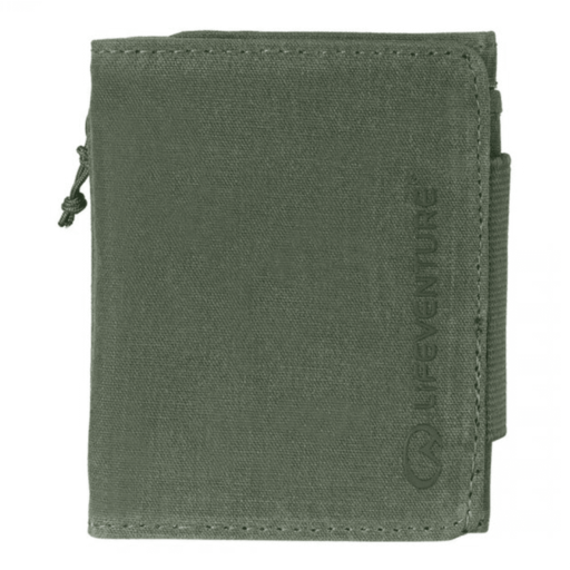 Lifeventure RFID Protected Wallet – Olive Waxed Canvas