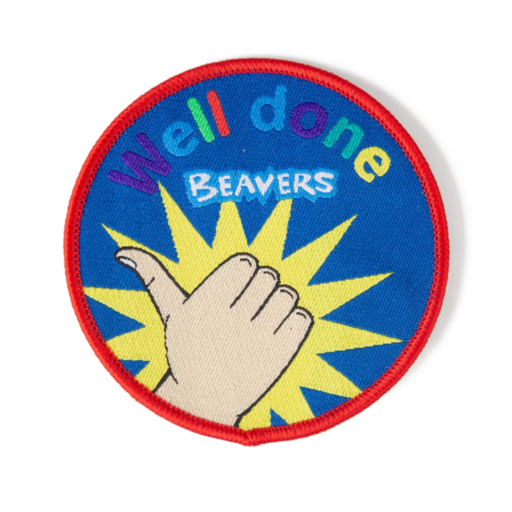 "Beavers ""Well Done"" Fun Badge"
