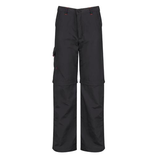 Regatta Kid's Sorcer Zip Off Hiking Trousers – Ash