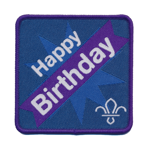 Fleur de Lis Scouts Happy Birthday Fun Badge