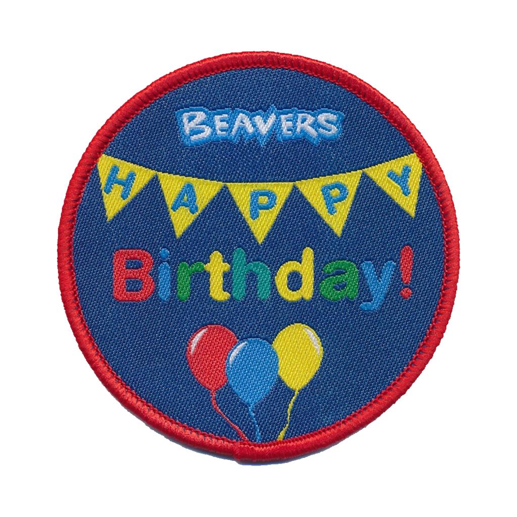 109982 Beaver Scouts Happy Birthday Fun Badge