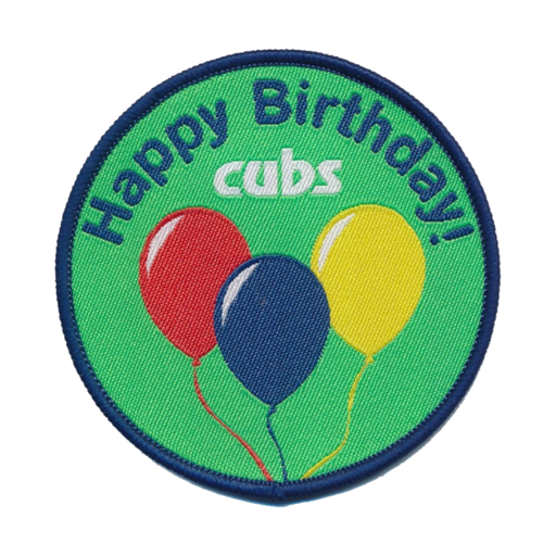 Cubs Cub Scouts Happy Birthday Fun Badge