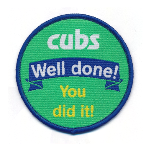 "Cubs ""Well Done"" Fun Badge"