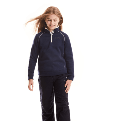 Craghoppers Kid's Fobello Half Zip – Blue Navy Marl