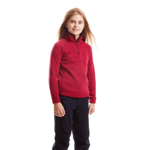 Craghoppers Kid's Fobello Half Zip – Winter Rose Marl