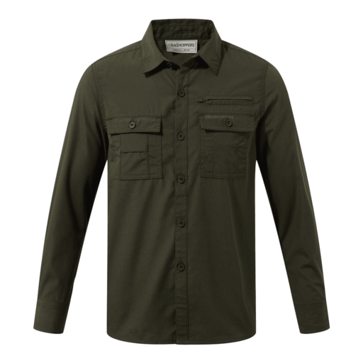 Craghoppers Boy's Adventure Trek Long Sleeved Shirt – Dark Khaki