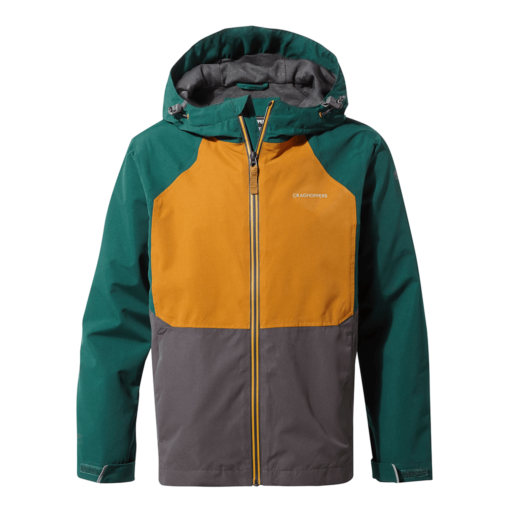 Craghoppers Kid's Amadore Jacket – Mountain Green / Black Pepper / Spiced Copper