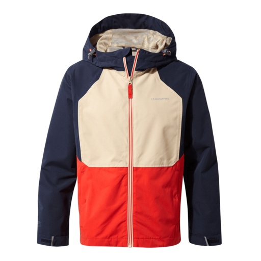 Craghoppers Kid's Amadore Jacket – Blue Navy / Aster Red / Desert Sand